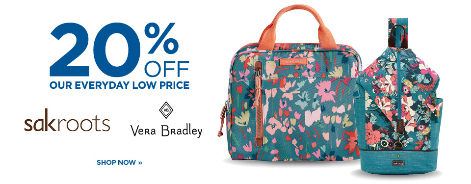 20% Off Vera Bradley and Sakroots