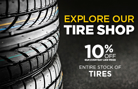 Save 10% Off Entire Stock of Tires