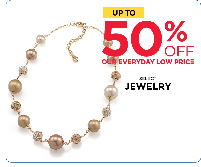 Save Up to 50% Off Jewelry