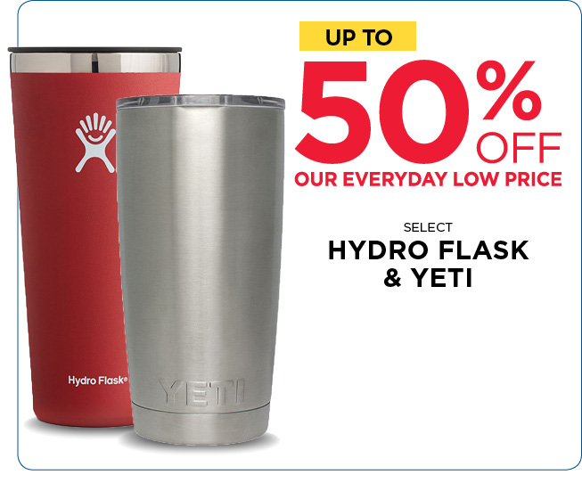 Save Up to 50% Off Select Hydro Flask and Yeti