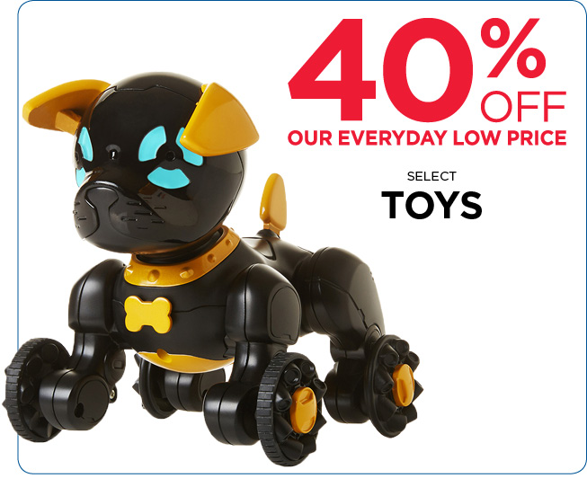 40% Off Select Toys