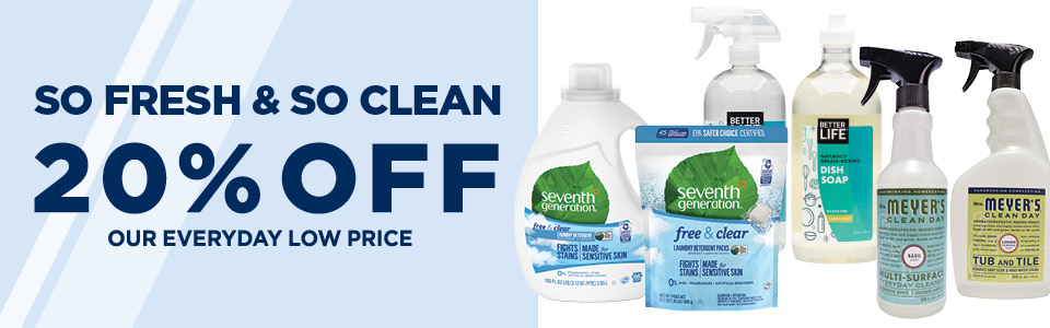 20% Off Natural Cleaning Supplies