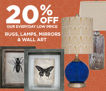 20% Off Rugs, Lamps, Mirrors and Wall Art