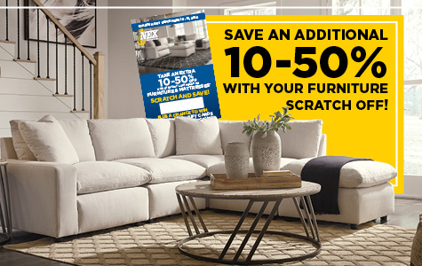 Save Up to 50% Off with Your Furniture Scratch Card