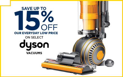 Save Up to 15% on Select Dyson Vacuums