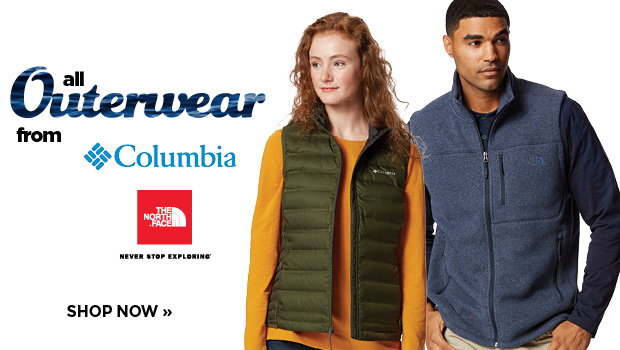 25% Off Outerwear from The North Face and Columbia