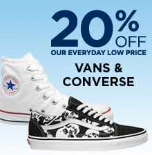 20% Off Vans and Converse