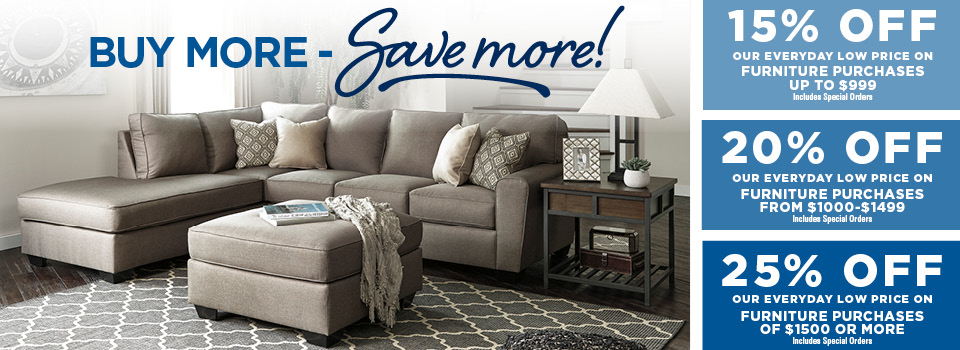 Buy More Save More Furniture Sale