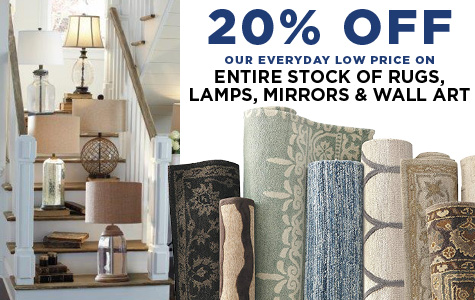 20% Off Entire Stock of Rugs