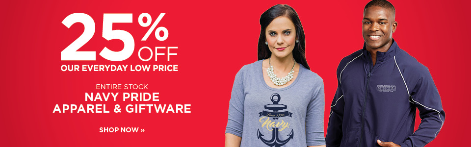 25% off Navy Pride apparel and giftware