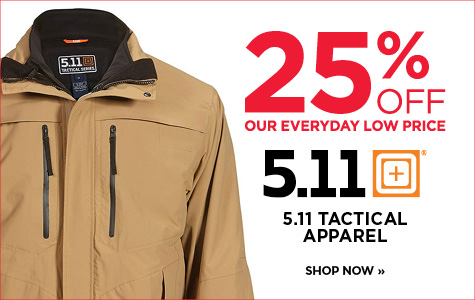 25% off 5.11 tactical apparel