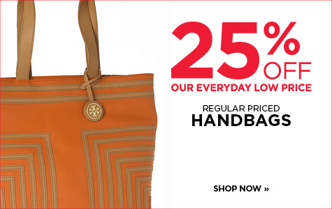 25% off All Regular Priced Handbags & wallets