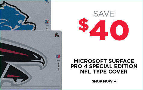 Save $40 on NFL Surface Pro 4 Cover