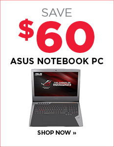 Save $60 on Asus C17 6700 HQ Notebook