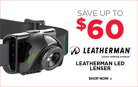 Save up to $60 on Leatherman LED Lenser