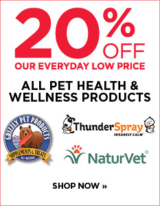 20% off all pet health and wellness products