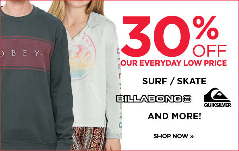 30% off surf and skate
