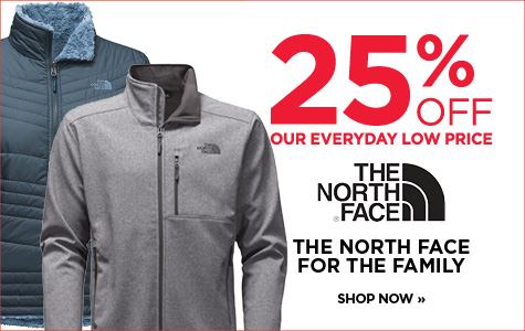 25% off The North Face for the Family