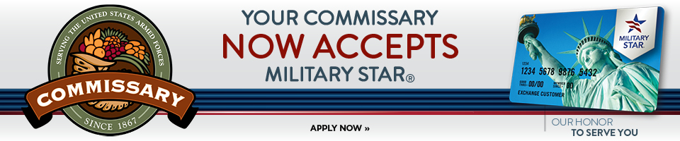 Military Star Card is now accepted at the Commissary