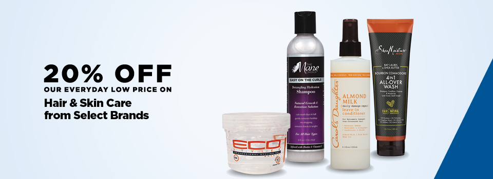 20% Off Select Hair & Skin Care from Select Brands