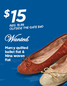 TBD $15 Wanted MARCY QUILTED BALLET FLAT & WANTED NINA OVEN FLAT