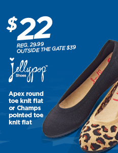 TBD $22 Jellypop APEX ROUND TOE KNIT FLAT OR CHAMPS POINTED TOE KNIT FLAT