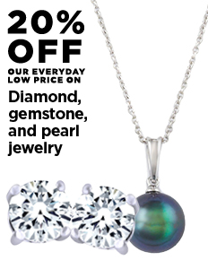 20% off Diamond, Gemstone, and Pearl Jewelry