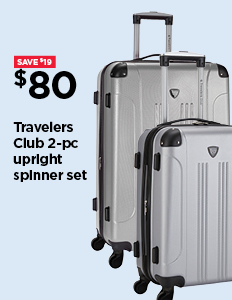 $80 TRAVELERS CLUB 2-PC. UPRIGHT SPINNER SET