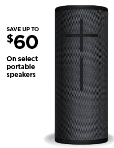Save up to $60 on select portable speakers