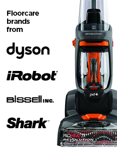 Floorcare brands from Dyson, iRobot, Bissell, Shark and more!