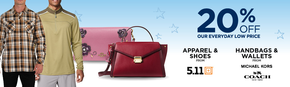20% Off 5.11, Michael Kors And Coach