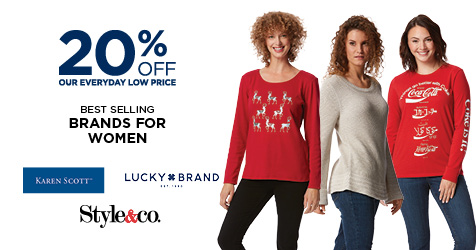20% Off Style & Co, Karen Scott, Lucky Brand