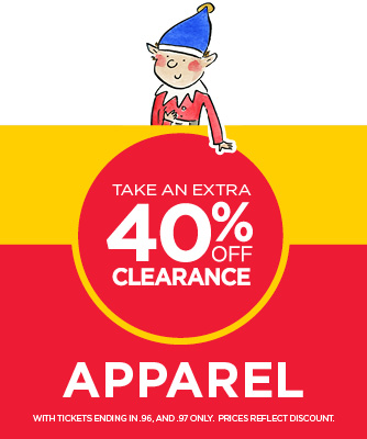 30% Off Select Clearance Apparel