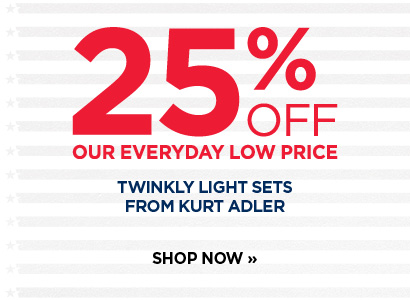 25% off Kurt Adler Twinkly Lights