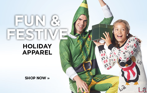 Shop Fun & Festive Apparel
