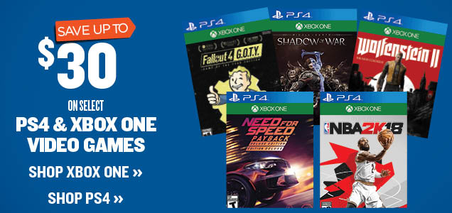 Save up To $20 on Select PS4 and Xbox One Video games
