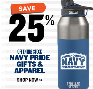 25% OFF NAVY PRIDE GIFTS & APPAREL