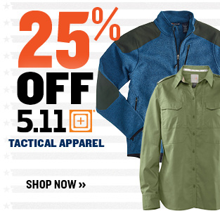 20% off 5.11 tactical apparel