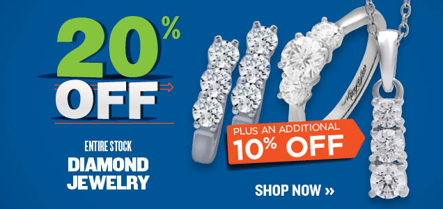 20% OFF PLUS EXTRA 10% OFF DIAMONDS
