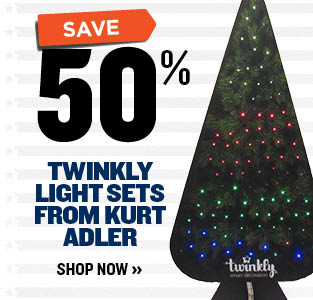 Save 50% OFF Twinkly Light Sets from Kurt Adler