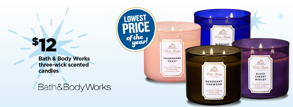 $12 Bath & Body Works Scented Candles