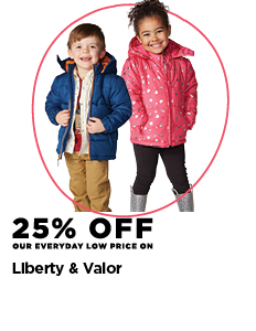 25% off Liberty & Valor