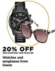 20% off Guess watches and sun