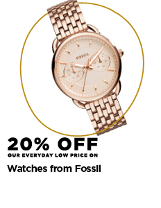 20% off Fossil watches