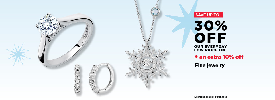 Up to 30% off Fine Jewelry +an extra 10% off