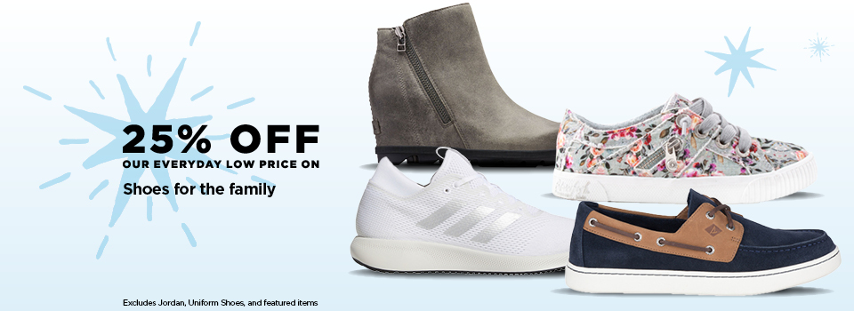 25% off Shoes for the Family