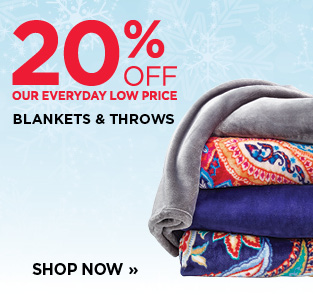 20% Off Blankets & Throws