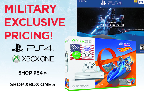 MILITARY EXCLUSIVE PRICING ON PS4 & XBOX ONE