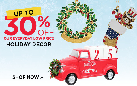 UP TO 30% OFF Holiday Decor