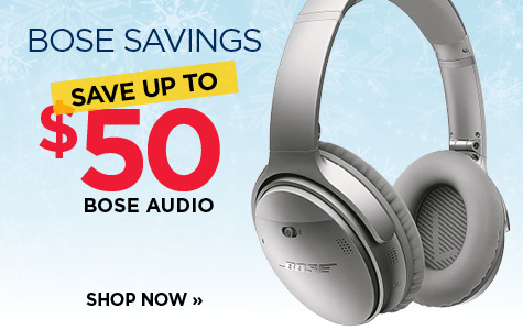 Save up to $50 on Bose Audio